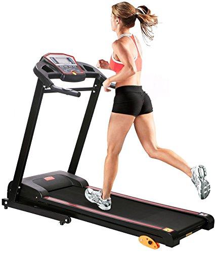 Merax Electric Treadmill Folding Motorized Running Machine 1.5HP (Black.)