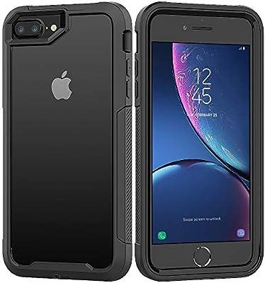 "iPhone 8 Plus Case,iPhone 7 Plus Case,iPhone 6S Plus Case,iPhone 6 Plus Case,ZERMU 2in1 Shockproof Reinforced PC Frame Crystal Soft Rubber TPU Bumper Case for iPhone 8 Plus/7 Plus/6S Plus/6 Plus 5.5\"""