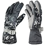 LanChuon Winter Cycling Gloves, Windproof Waterproof Breathable Mountain Bicycle Gloves Riding Ski Gloves Full Finger Gloves
