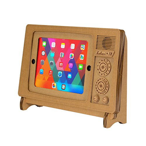 Cardboard Safari TV iPad Stand (fits iPad, iPad Air, iPad Air 2) -