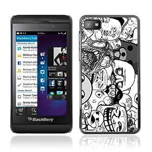 CQ Tech Phone Accessory: Carcasa Trasera Rigida Aluminio Para Blackberry Z10 - LOL Troll Faces