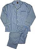 Hanes - Men's Woven Long Sleeve Striped Pajamas, Blue 41331-XXXX-Large