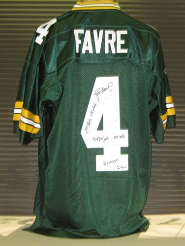 Brett Favre Autographed Signed Green Bay Packers Reebok Jersey with Career  Stats LE  444 6dfb20901