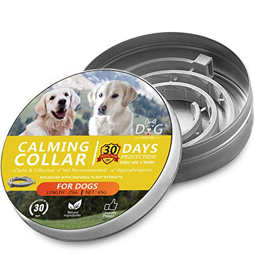 Howan Calming Collar for Dogs- Adjustable Reduce Anxiety Collars- 30 Days Protection - 100% No Allergy 100% Waterproof Natural Calm Collars, Fits All Dogs Small Medium& Large