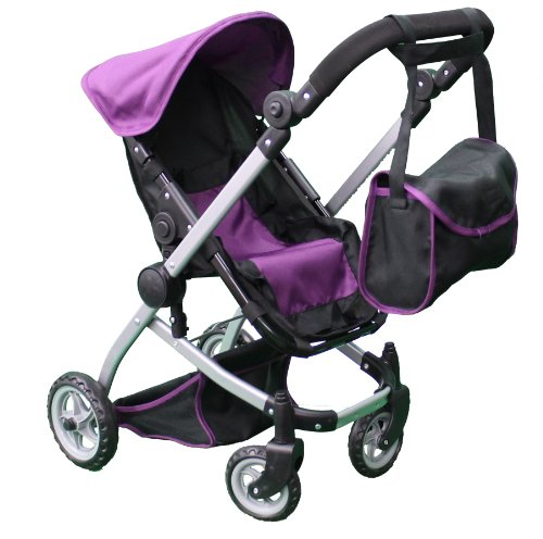 Amazon.com: Mommy & Me Deluxe Babyboo Doll Stroller with Swiveling ...