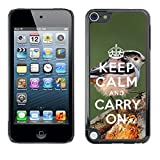 Super Stellar Slim PC Hard Case Cover Skin Armor Shell Protection // Q01009582 keep calm and carry on 424 // Apple ipod Touch 5 5G 5th 6 6G 6th
