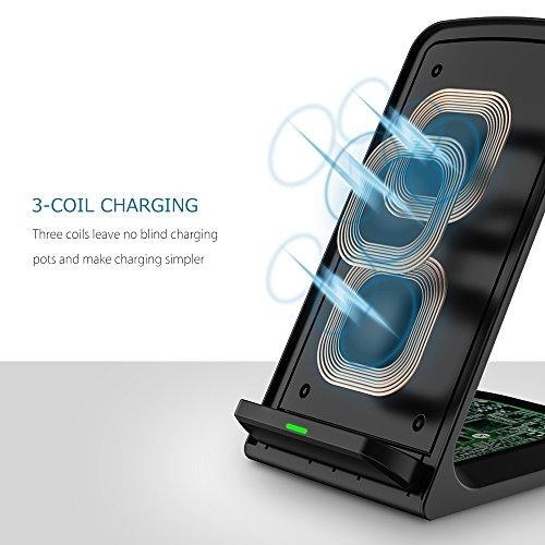 chargeur sans fil seneo wireless charger qi 3 bobines d 39 induction rapide pour samsung galaxy. Black Bedroom Furniture Sets. Home Design Ideas