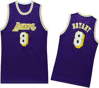 Lakers Bryant # 24 Jersey de Baloncesto Conjuntos de Pantalones Cortos Deportivos para ni/ños Jerseys Trajes de Verano Conjunto Corto Superior para ni/ños Ni/ño Ni/ñas Ropa Deportiva para beb/és