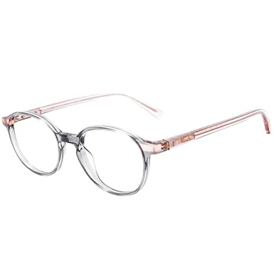 c8a790ff4f6 Image Unavailable. Image not available for. Color  Etnia Barcelona Anvers  GYPK Grey Pink Plastic Round Eyeglasses 48mm
