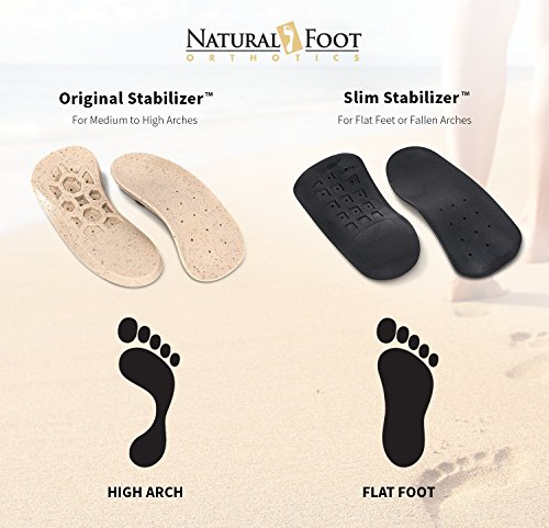 Natural Foot Orthotics Original Stabilizer Plantar Fasciitis Inserts for Medium to High Arches, Arch Support Insoles for Heel Pain, Balance, Posture, Made In USA, 6-6.5 Mens / 7-7.5 Womens by Natural Foot Orthotics (Image #6)
