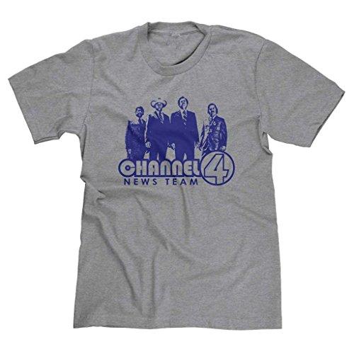 FreshRags Channel 4 News Team Anchorman Men's T-shirt Heather Gray 2X]()