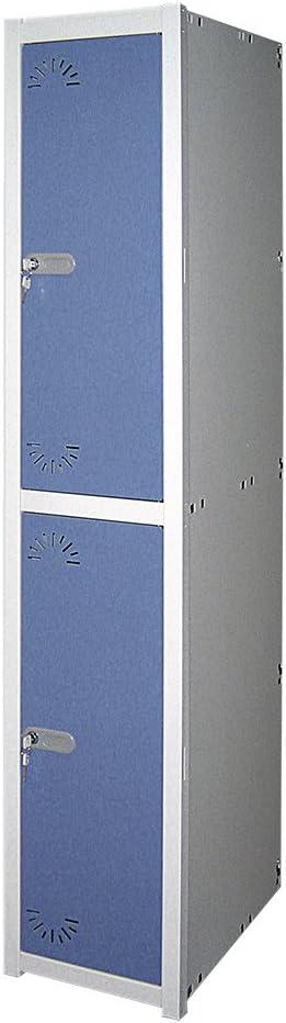 1800x430x520 mm Med M/ódulo de 1 cuerpo Desmontado Taquilla met/álica 1 Puerta