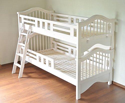 ニ段ベッド 子供用 シングル2台 『 ニ段ベッド バービー /ホワイト/ 』 seb001 B012YX59B0