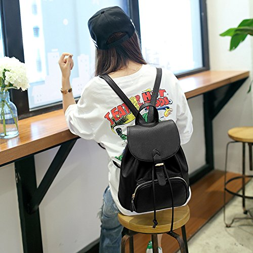 Leather Backpack Bag Purse Ladies Women Girls Travel Daily Casual Small Exqc74wv