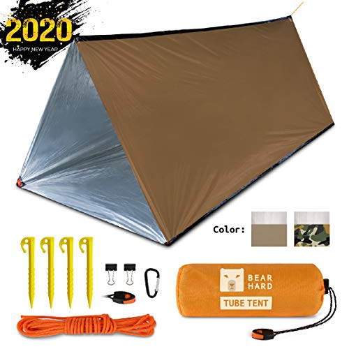 Bearhard Emergency Tube Tent Lightweight Compact Rescue Large PE Foil