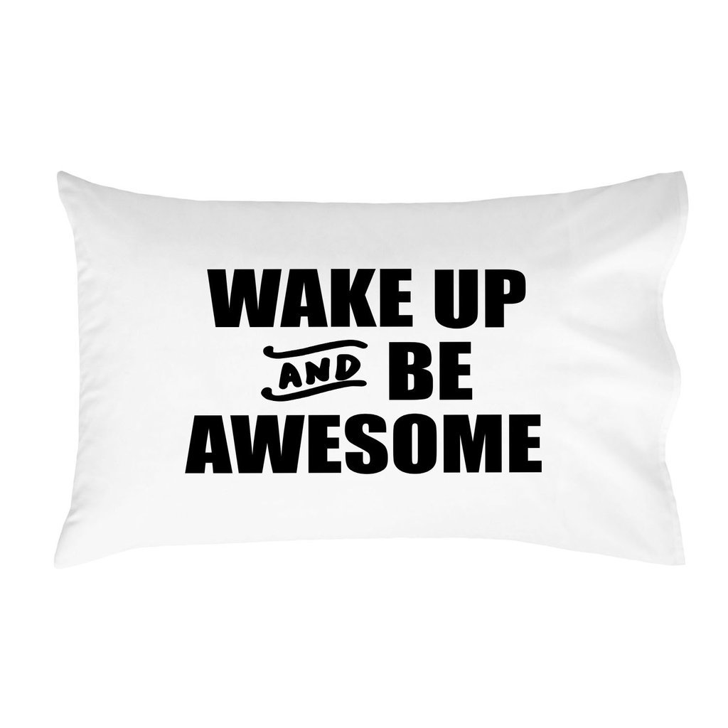 Oh, Susannah Wake up and Be Awesome BOLD Pillow Case - (1 20x30 Inch Standard/Queen Pillowcase) LDS Missionary Gifts