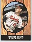 2003 Bowman Heritage #174C Warren Spahn KN - Boston Braves (Knort Hole) (Baseball Cards)