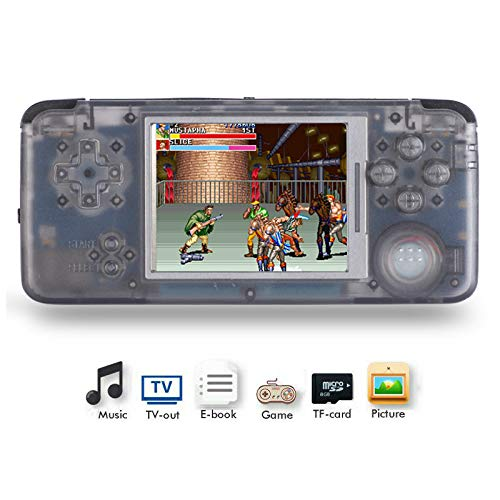 Handheld Game Console, Retro Game Console 3 Inch HD Screen 800 Classic Game Console, Birthday Present for Children - Transparent - Ps1 Tv Portable