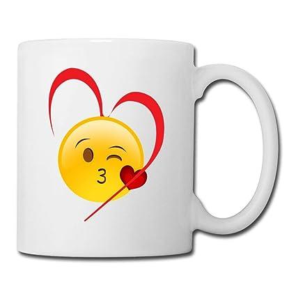 Amazon com: Kiss Love You Emoji,Coffee Cups White: Musical