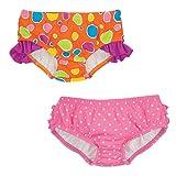 Sun Smarties Girls Swim Diaper ORANGE DOTS 12 MOS.