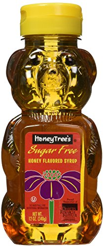 HoneyTree's Honey Flavored Syrup, Sugar Free, 12-Ounce Plastic Bears (Pack of - Honey Flavored