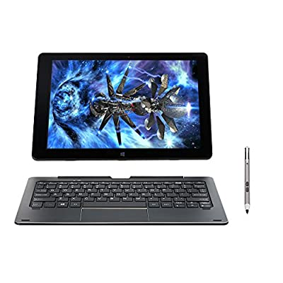 2017 Newest Premium Nuvision DUO 10.1-inch HD IPS Touchscreen 2-in-1 Laptop PC with Keyboard and Stylus Intel Atom Processor 2GB RAM 64GB SSD 802.11ac WIFI HDMI Webcam Bluetooth Windows 10-Blue