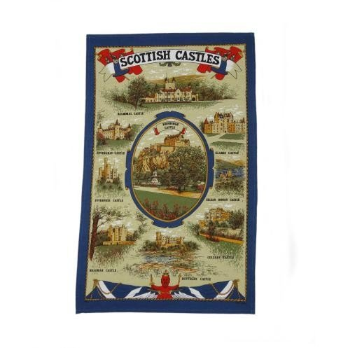 100% Cotton Tea / Dish Towel - Scottish Castles