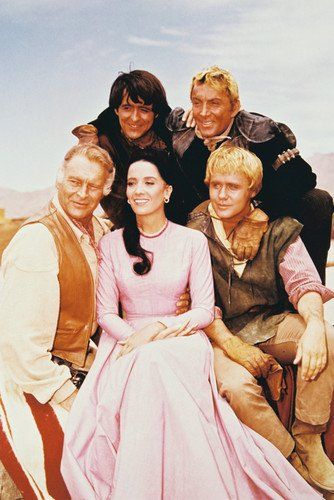 Linda Cristal, Henry Darrow, Leif Erickson, Cameron Mitchell and Mark Slade in The High Chaparral 24x36 Poster Silverscreen