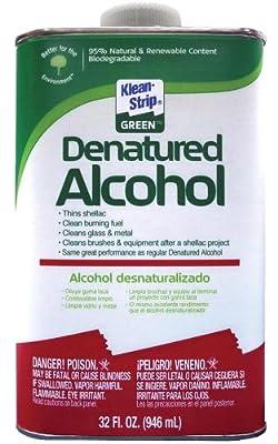 Klean-Strip Green QKGA75003 Denatured Alcohol, 1-Quart