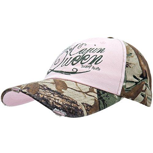 le - Womens Swamp People - Cajun Queen Adjustable Baseball Cap Pink ()