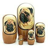 Best unknown In Breeds - Pug dog breed nesting dolls Russian Handmade 5 Review