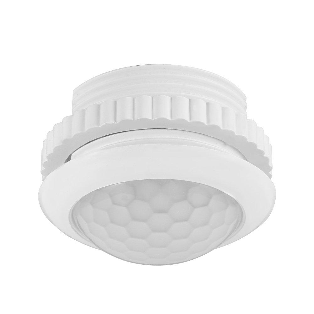 Detector de sensor de movimiento de 180 grados Conmutador de luz para l/ámpara incandescente con luz LED Cofemy Conmutador de sensor PIR 220V