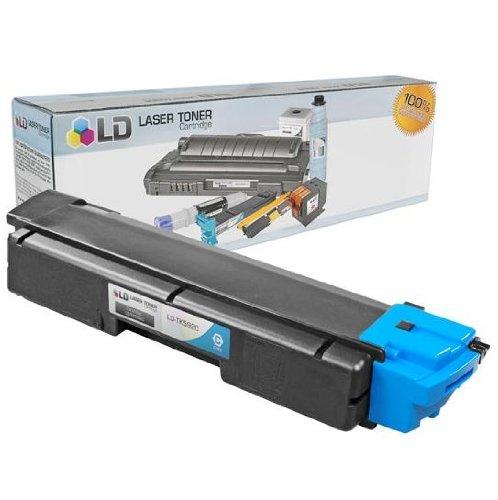 LD © Kyocera-Mita Compatible TK592C Cyan Laser Toner Cartridge for use in FS-C2026MFP, FS-C2126MFP, FS-C5250DN, M6026cidn, M6526cdn, M6526cidn, P6026cdn, P6526cdn, P6526cidn, and P6026cidn - Cyan Toner Tk592c