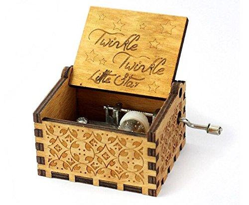 【お年玉セール特価】 biscount biscount Twinkle Twinkle Twinkle B07FDF1CF4 Little Star MovieテーマアンティークCarved音楽ボックス手クランクWooden Musicalボックスおもちゃ B07FDF1CF4, 大杉走輪:987c0117 --- arcego.dominiotemporario.com