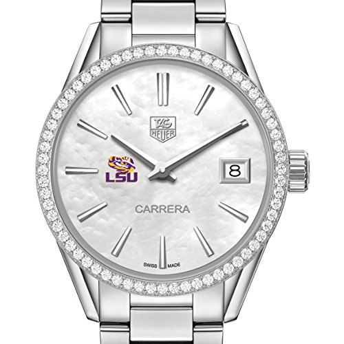 LSU Women's TAG Heuer Steel Carrera with MOP Dial & Diamond (Ladies Diamond White Mop Dial)