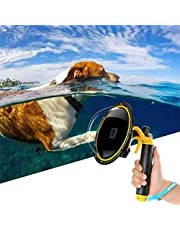 for GoPro Dome Hero Black 7 6 5 2018, Dome GoPro Port Lens Transparent Cover with Floating Handle Grip and Pistol Trigger for Diving, Underwater Waterproof 30M Action Camera Accessory Housing Case