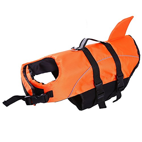 Dog Life Jacket Large ,Dogs Life Vests For Swimming Extra Large,Puppy Float Coat Swimsuits Flotation Device Life Preserver Belt Lifesaver Flotation Suit For Pet Bulldog With Reflective Straps xl