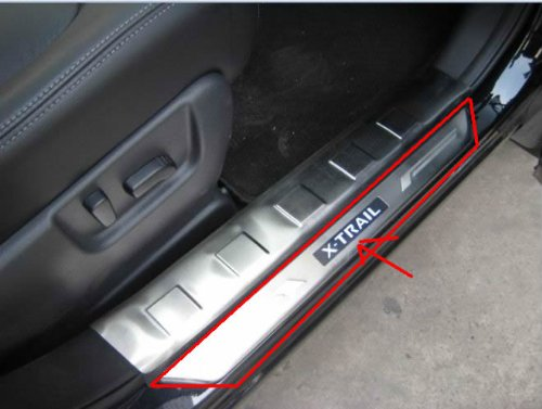 4DR Blue LED Door Sill Scuff Plates for Nissan X-trail 2009 2010 2011 2012