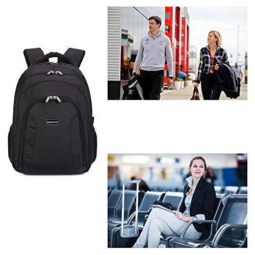 SymbolLife business Rucksack herren Notebook Laptop Rucksack mit Große Kapazität Schulrucksack Reiserucksack Business Bag with three pockets, 44*32*15cm, Schwarz Schwarz