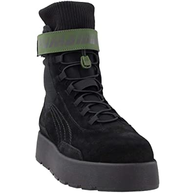 Puma Scuba Boot Womens Black Suede Casual Dress Lace Up Boots Shoes 5.5 f2d7ca543