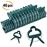 Sago Brothers Plant Clips, Orchid Clips 40 PCS, Tomato Support for Climbing Plants, Vines, Stems - Works with Bamboo Stakes, Tomato Cage, Garden Trellis