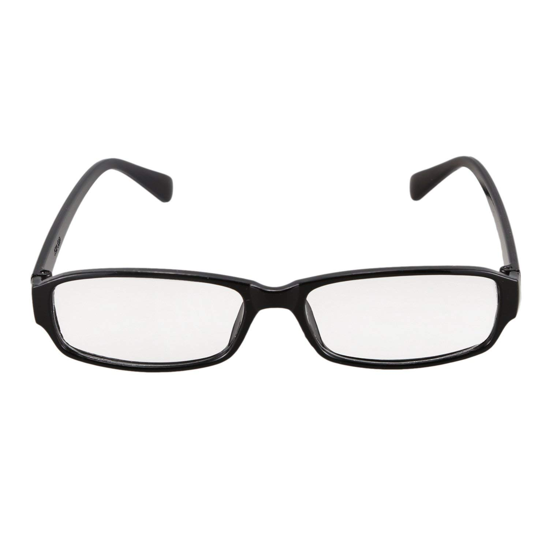 Gaoominy Unisex Black Frame Clear Lens Eyewear Plain Plano Glasses
