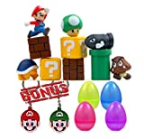 Super Mario Bros 10 Piece Action Figures With 2 Keychains, Mini Super Mario Bros Figures Bundle, Birthay Cake Topper