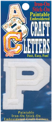 Joy S.A. 50100-50116 Embroidered Craft Letter, P, (Letter P Crafts)