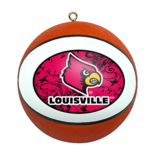 Boelter Brands NCAA Louisville Cardinals Replica Basketball Ornament - Louisville Cardinals Brown Football