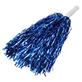 Ac2Shop Metallic Cheerleader Poms Dance Party Welcome Costume Streamer, Blue