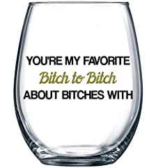 Finally, A Humorous Wine Glass For Her That She'll be excited about! Can You Handle It?               Looking for...         ... a unique gift for your best friend or BFF?         ... something they'll actually be excited to u...