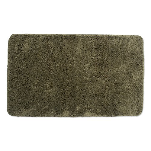 Dark Large Green (Ultra Soft Absorbent Spa Microfiber Bath Rug, 24x40