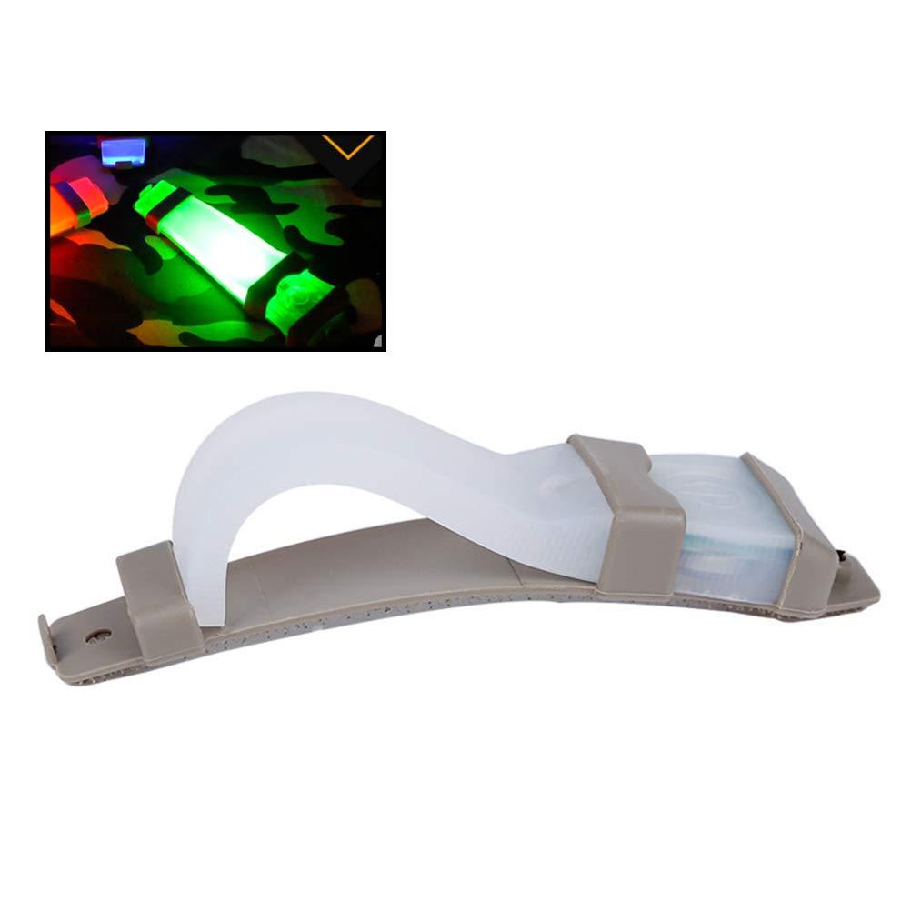 LIOOBO Luz indicadora de Seguridad de Seguridad Intermitente Intermitente de Seguridad de Casco para Luces Deportivas para Deportes al Aire Libre (Verde)