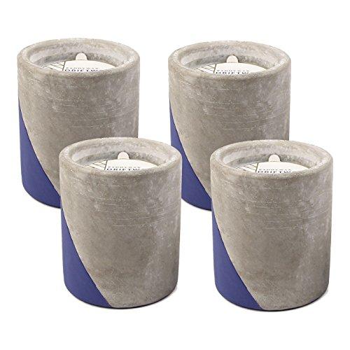 (Paddywax Urban 12 Oz. Concrete Pot Indigo Driftwood & Indigo Candle - Pack of 4)